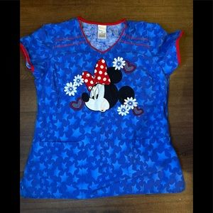 Disney Minnie Mouse Scrub Top